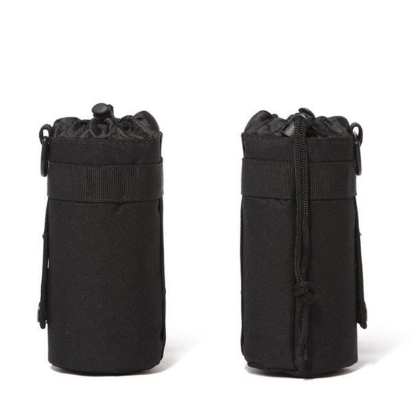 Bolsa de bolsa de botellas de agua portátil de 500 ml Bolsa de soporte de bolsa de botella de agua con cordón de camuflaje para deportes al aire libre con sistema Molle