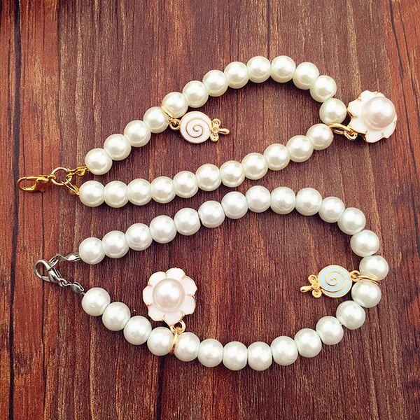 Moda Nova Pérola Keychain Mulheres Trinket Para bolsas das Mulheres Peal Beads Keyring Anel Chave Para Fazer Jóias Acessórios