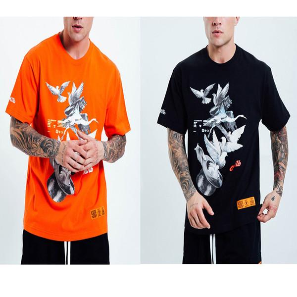 19ss Heron Preston Magie-Pigeon-Grue Impression De T-shirtsHauteQuality En Coton D'été T-shirt Hommes HERON PRESTON T-shirt À Broderie
