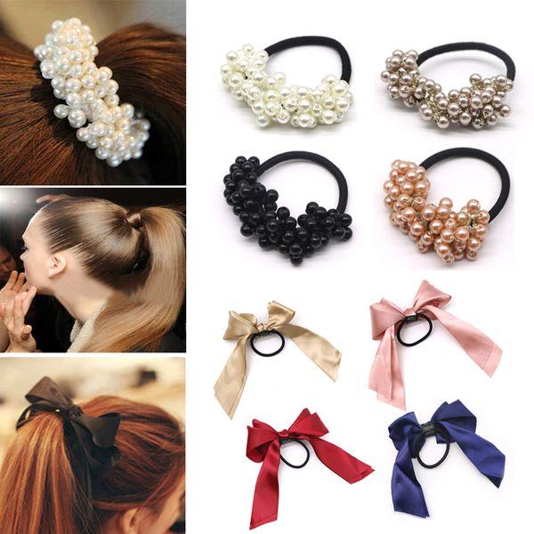 Cream Rosebud Pearl Scrunchie Hair Accessories UK