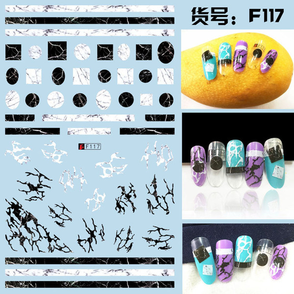 5sheet 10type Japanese Ultrathin Letter Nail Sticker Designs Gummed 3D Nail Art Stickers Decals Decoration F117-126
