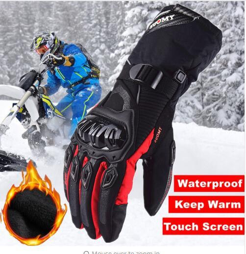 top popular suomy New Keep warm full finger 100% Waterproof Motorcycle Gloves Winter Touch Screen Racing Gloves Motosiklet guantes de moto XXL 2019