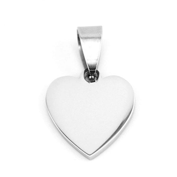 100% из нержавеющей стали мини сердце тег очарование пустой металлический тег двойные стороны высокая полировка для DIY ювелирных изделий Оптовая 10 шт.