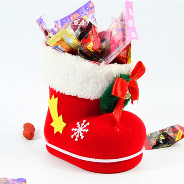 Shoes Christmas Gift Bags 3 Size Santa Claus Shoe Sacks for Christmas Goods New Year Gifts Presents Packing Supplies