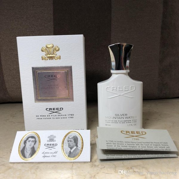 Creed Faith Silver Mountain Quellwasser Parfüm Weiße Flasche Parfüm 120ml Men Cologne Mit gutem Geruch Zufriedenstellende Qualität Duft