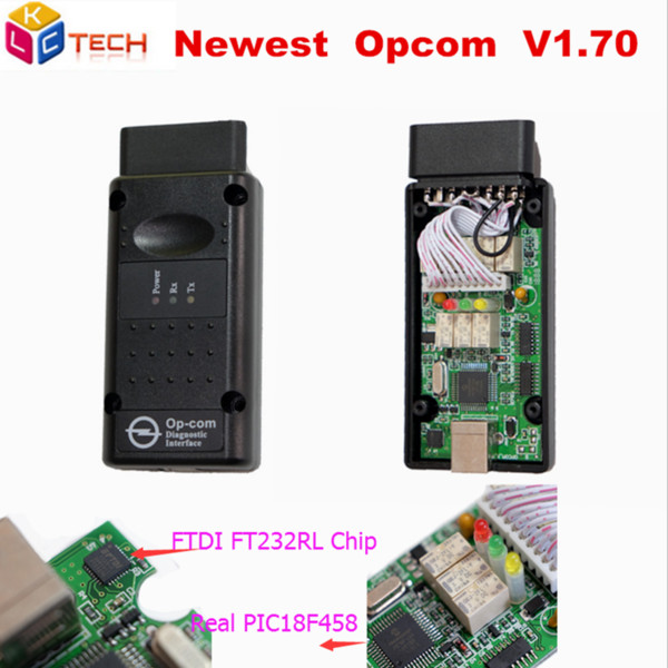 A +++ OP-COM CANBUS V1.95 PIC18F458 Chip FT232RL FTDI Chip OPCOM Scanner diagnostico OP COM