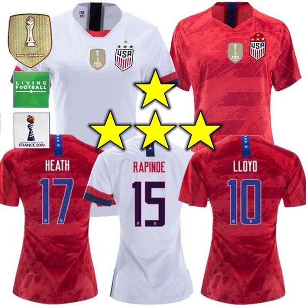 2019 4 star World cup America girl Soccer Jersey United States Shirt USA women man LLOYD RIPINOE KRIEGER Football Uniform Female 19 20