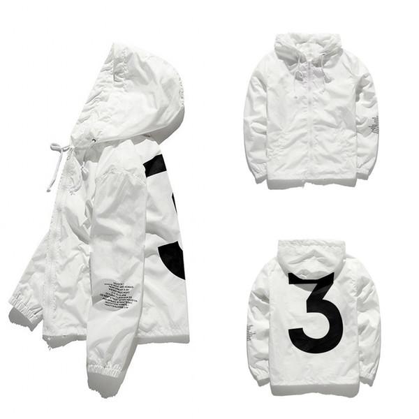 2018 Mens Kanye West Jacke Hip Hop Windjacke Modedesigner Jacken Männer Frauen Streetoberbekleidung-Mantel hochwertige JK001