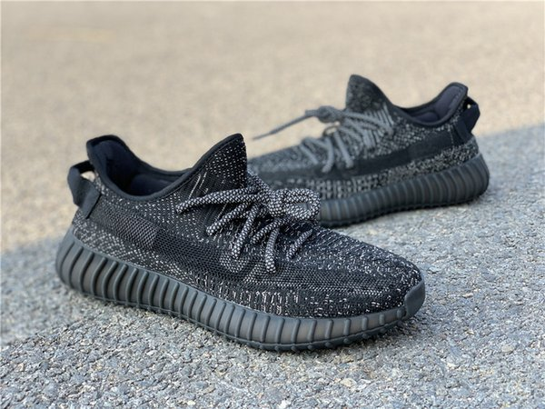 Com Caixa de Kanye West Sapatos Homens 2019 Pirata Estática Preto Sapatos de Corrida Womens goma de brilho no escuro 3 M Botas de Desporto Ao Ar Livre Botas EF2567