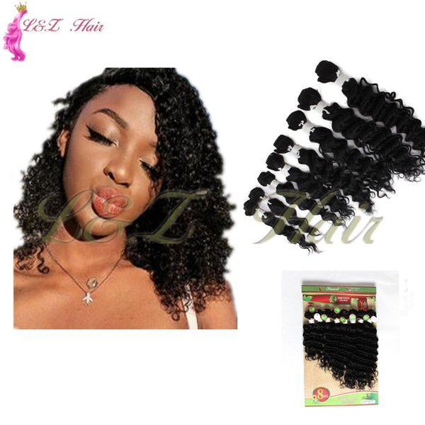 """Extensions Kinky Curly Sew in human Hair Wefts Two Tone Color 1B 30 curly Ombre Weave 8""""inch short Brazilian mongolian kinky curly"""
