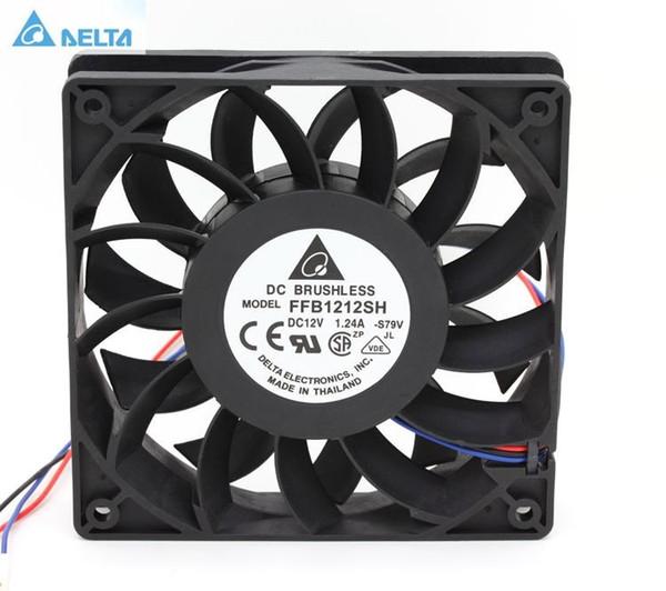 Delta FFB1212SH 12025 12 cm 120mm DC 12 V 1.24A 3-pin servidor inversor caso axial cooler ventiladores industriais