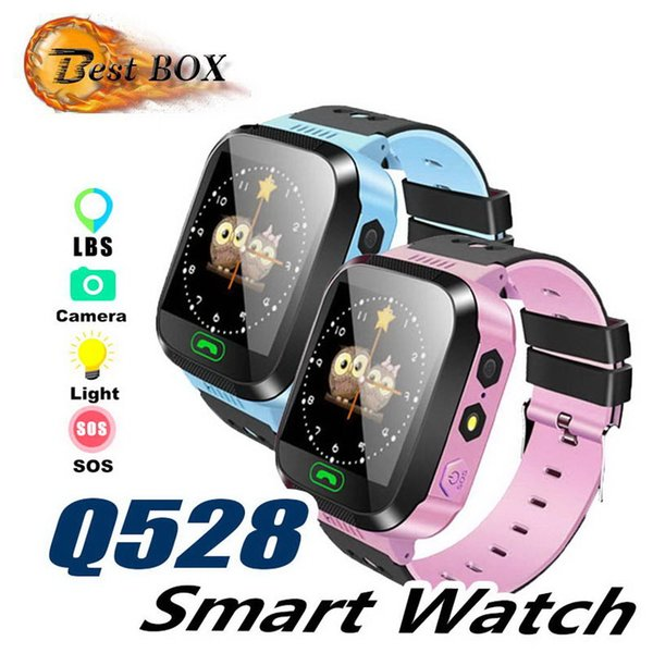2019 Touch Screen Q528 GPS Tracker WatchAnti-lost Children Kids Smart watch LBS Tracker Wrist Watchs SOS Call For Android IOS P-BS