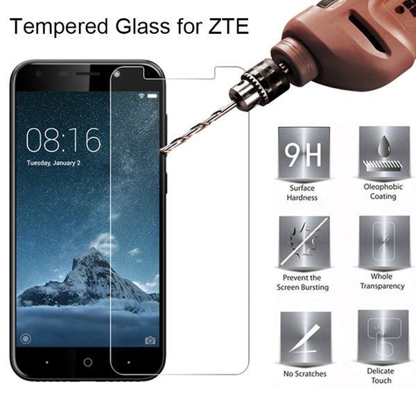Toughed Screen Glass for ZTE Blade A2 Plus A3 A6 Tempered Glass for ZTE Blade L3 Plus L2 9H HD Hard on L5
