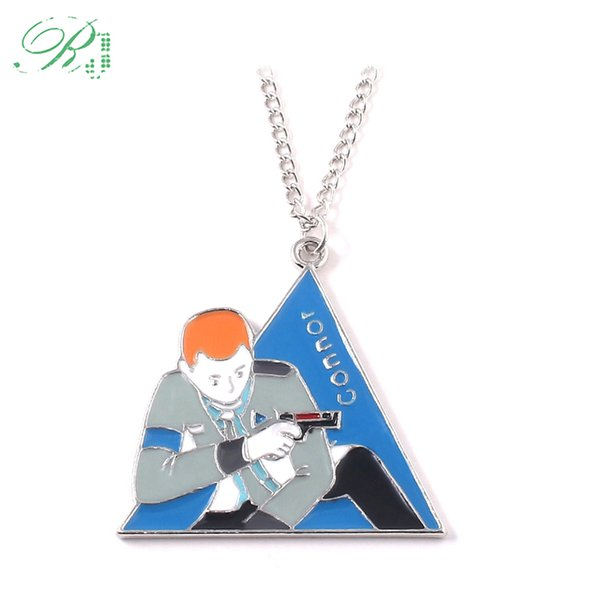 RJ Detroit Become Human Necklaces Pin Under The Legend Triangle Bevel Game Collection For Man And Woman Cosplay Jewelry Gift
