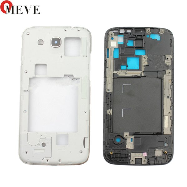 Original front bezel with middle housing cover case plate frame For Samsung Galaxy Mega 5.8 i9152 9152 with side