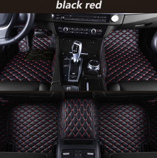 Mercedes-Benz Classe A AMG 2014-2017 tapis de voiture de luxe entouré par tapis vert imperméable résistant à l'usure en cuir voiture Livraison gratuite