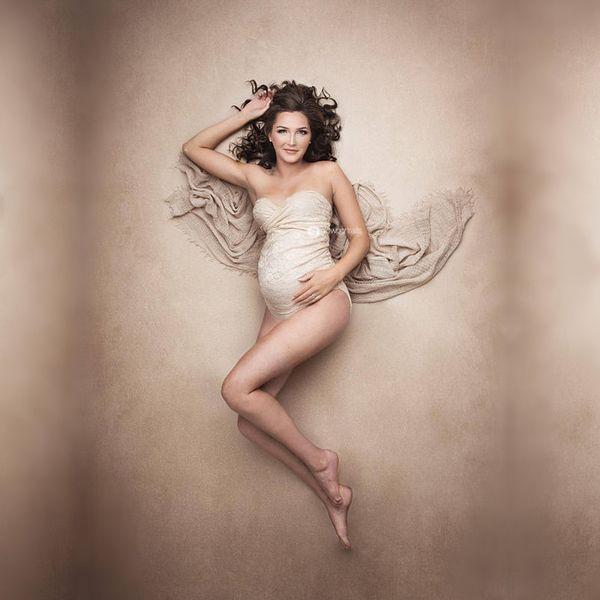 Umstandsspitze Strampler Für Schwangerschaft Fotografie Requisiten Schwangere Frauen Fotoshooting Weißer Spitze Overall Kleid Kleidung Fotografia Y19051804