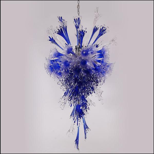Simple Designed Blown Glass LED Chandelier Mini Cheap 100% Pretty lighting Murano Glass Chandelier for Wedding Decoration