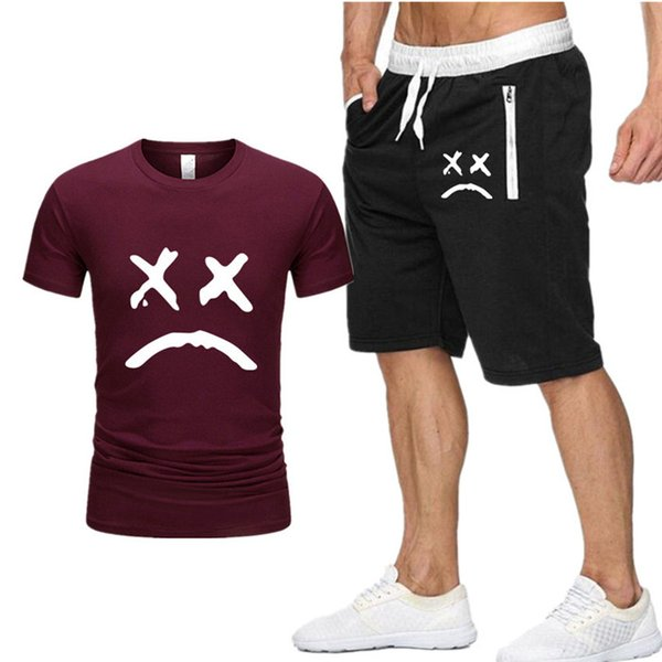 Love lil peep Print Tracksuit T Shirt+Shorts fashion Trends In Fitness Cotton Brand t shirts for Men Bodybuilding clothing S-XXL P8