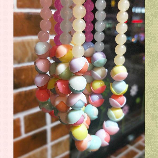 Желе девушки ожерелье принцессы дети ожерелье цветок дети ожерелье девушки ювелирные изделия малышей аксессуары оптом A10099