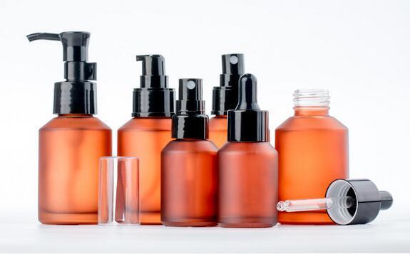 High-grade glass spray bottle, toner spray bottle, pressure emulsion press oil pump bottle, essential oil cosmetic pressure dropper bottle