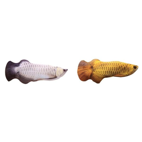 simulation fish shape doll interactive pets pillow chew bite supplies for cat/kitty/kitten fish flop cat toy catnip toys
