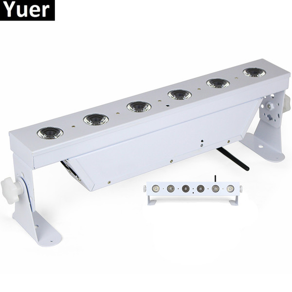 6Pcs/Lot 6x18W RGBAW UV 6IN1 Battery Powered Wireless DMX512 LED Wall Washer Light For LED Party Bar Disco Dj Stage Night Light