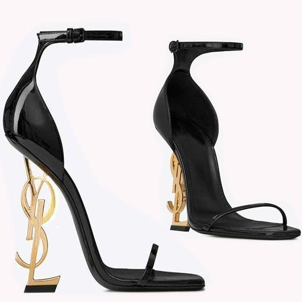 Luxury Designer Women Gold Heel Fashion Bridal Wedding Shoes Modest Fashion Eden High Heel Women Party Evening Party Dress Shoes 10cm Heel