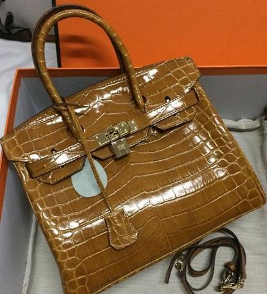35CM 30CM 25CM 2018 Big Brand Totes Shoulder bags With Lock luxury women Lady Cowhide Alligator Genuine leather Fashion Handbag wholesale