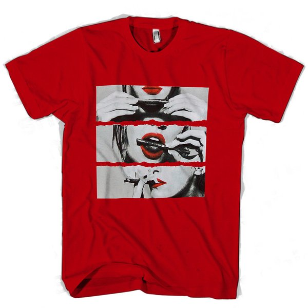 Blunt Roll Red Lips Man / Woman T-Shirt hoodie hip hop t-shirt denim clothes camiseta t shirt jacket croatia leather tshirt