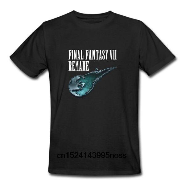 Футболка Funny Men белая футболка футболки Черная футболка Final Fantasy VII Remake Cloud Strife Футболка для видеоигр Tifa Lockhart