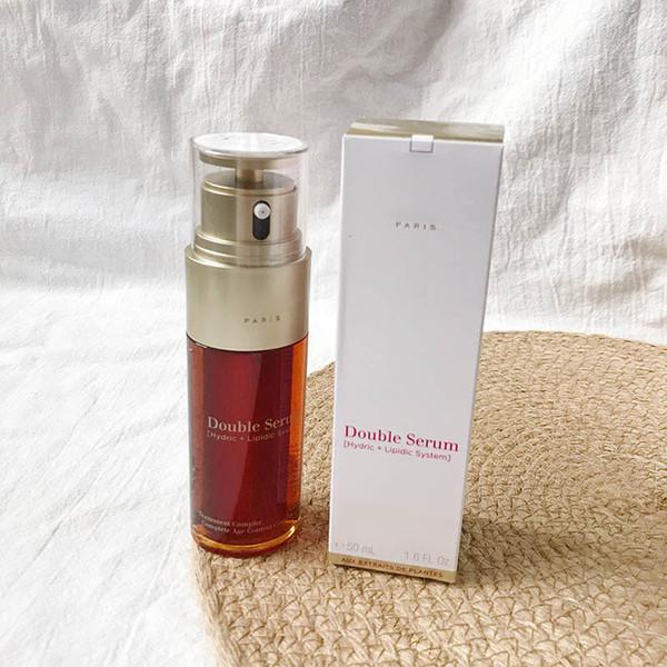 Nuevo lanzamiento de París, doble suero, loción hidratante, esencia facial, 50 ml, cuidado de la piel, buena calidad A + crema facial, 1.6 oz.