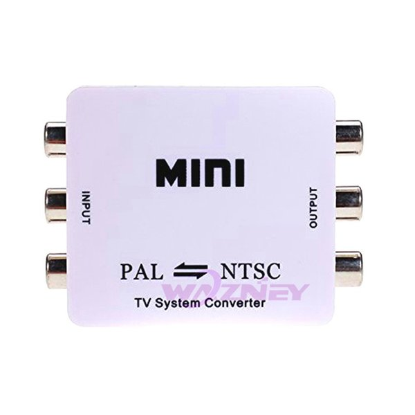30set/lot wazney Mini HD PAL NTSC Mutual Conversion TV System Converter Adapter for Single-format Video Equipment