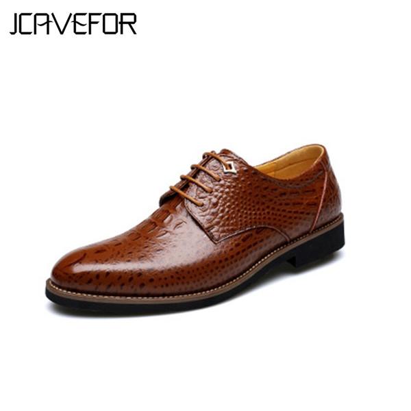 Timsah Timsah Stil erkek Elbise / İş Ayakkabıları, İtalyan Lüks Kahverengi Deri Parti Sosyal Ayakkabı, Yeni Tasarım Moda