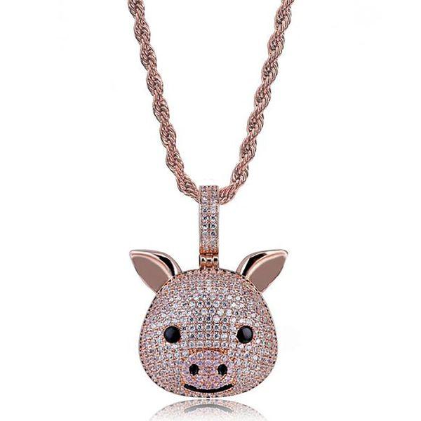 pig emoji+rope chain