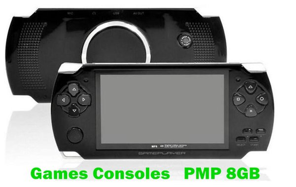 2PCS DHL 4GB 8GB handheld Game Console 4.3 inch screen mp4 player MP5 game player real 8GB support for psp game,camera,video,e-book NEW