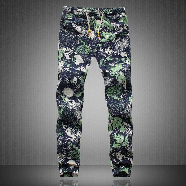 Una mala Pantalones Harem para hombre de lino con cordón Hippie Casual Y190509 exótico Patrón