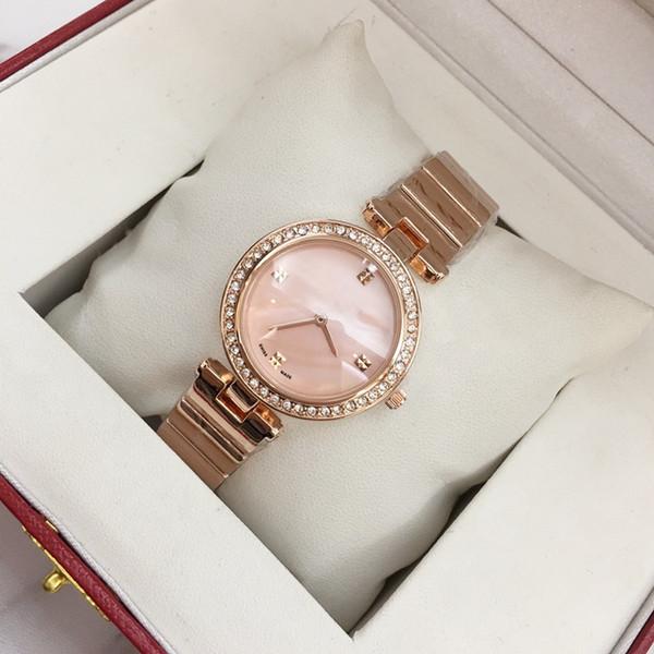 2019 Top fashion brand bracciale donna sexy orologio da polso in oro rosa spedizione gratuita lady party orologi vendita calda popolare Shell Face