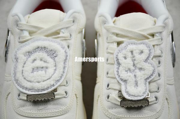 High Quality Forces x TRAVIS SCOTTs Мужские Женские Белые Скейтборд Обувь 3M отражают Модные Повседневные Кроссовки с коробкой оригинальной карты size5.5-11