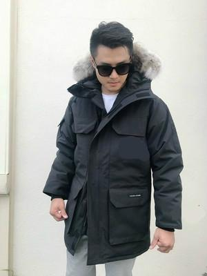 Men Parkas WINTER CANADA EXPEDITION-3 GOOSE Down & Parkas WITH HOOD/Snowdome jacket Brand Real Raccoon Collar White Duck Outerwear & Coats