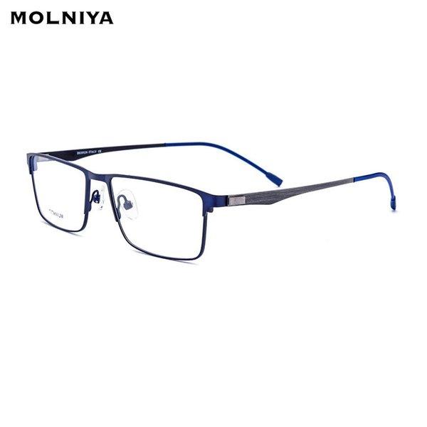 TR90 Asetat Optik Gözlük Çerçeve Erkekler Kare Reçete Gözlük 2019 Ticaret Miyopi Gözlük Erkek Vidasız Gözlük