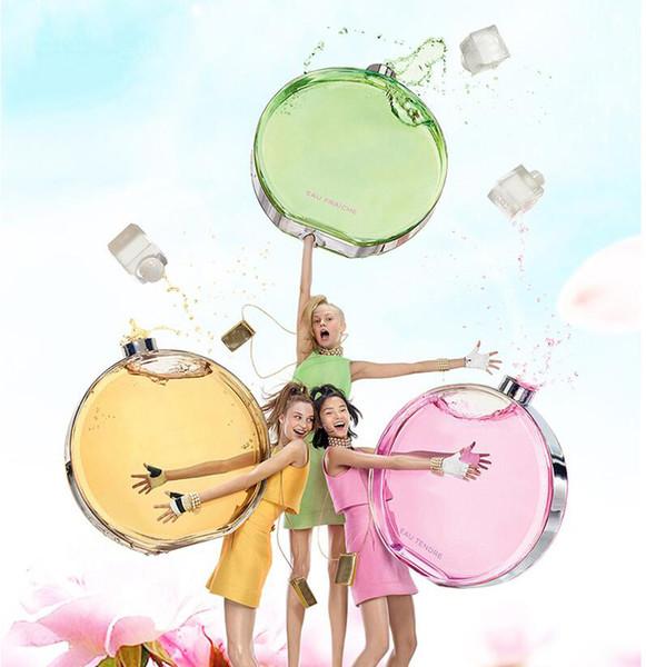 3 Stilleri Kadın EDT 100 ML EAU FRAICHE EIVE TENDRE Eau De Toilette Sprey Çiçek Yuvarlak Şişe Şişeleri Içinde Lezzet Parfüm