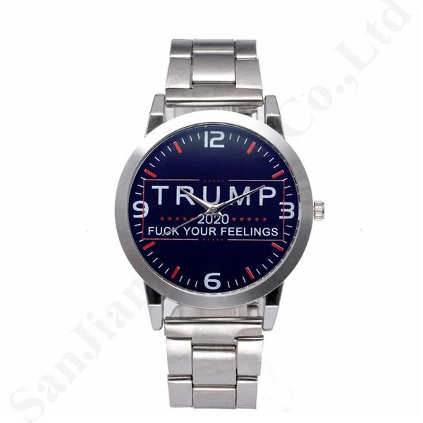 President Trump 2020 Mens Designer Wrist Watches Retro Quartz Wristwatches Stainless Alloy Strap Stopwatch Luxury Watch Women Watches B82702