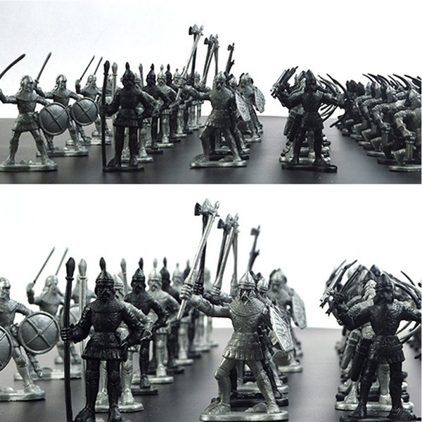 60pcs/set Middle Ages Military Soldier Toys Mini Classic Soldier Weapons For Model Sandbox Figures Toys For Children Gifts Y190604