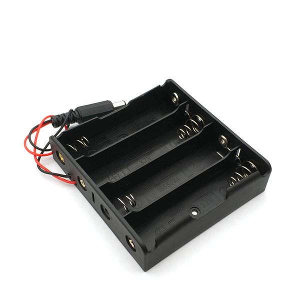 New Power банк 18650 Держатель батареи Держатель Пластиковые батареи Ящик для хранения Чехол для 4x18650 С DC 5.5 * 2.1mm сила plugm штепсельной вилки