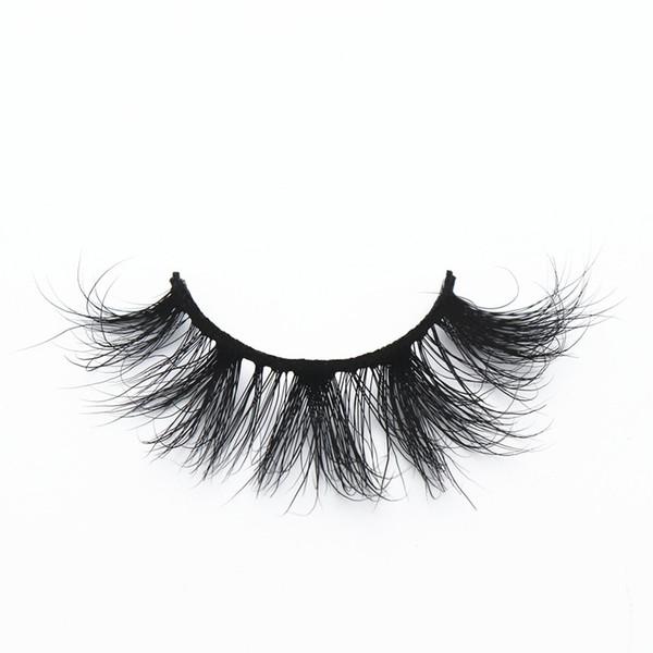 LON-43 LON-42 100% real mink eyelashes 25mm fluffy long strip lashes 5D thick dramatic false eyelashes volume curly free one pair soft