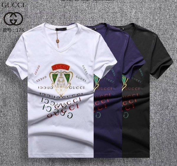 Летняя корейская версия Trend Man Slim с коротким рукавом футболки для мужчин с круглым воротом Одежда Male0228