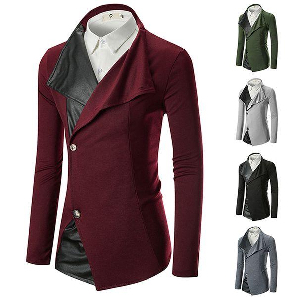 Hommes Hiver Longs Manteaux Couleur Pure De Mode Casual Vestes Hommes Manteau 5 Couleurs