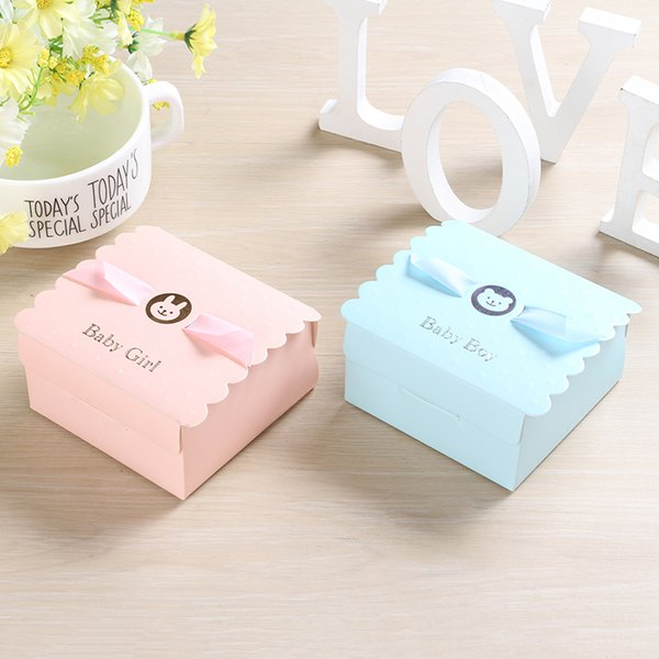 200pcs First Communion Boy & Girl Candy Boxes for Christening Baby Shower Birthday Event Party Supplies Wrap Holders with Ribbon