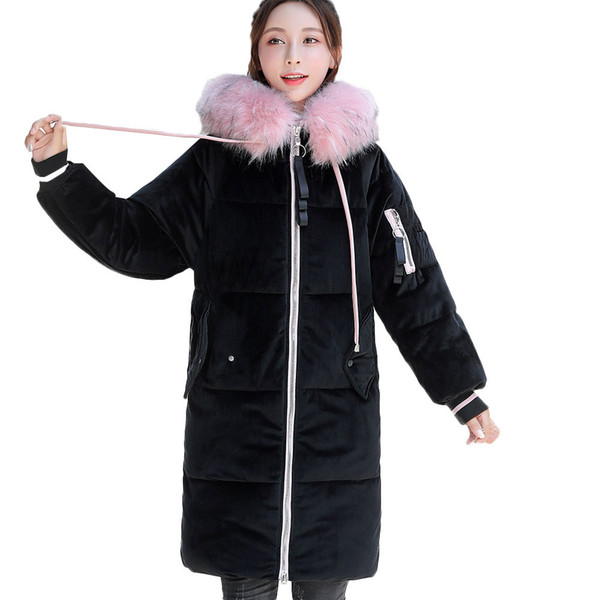 Womens Ladies Winter Coat Fur Collar Hooded Jacket Parka Tench Outwear Sizes New
